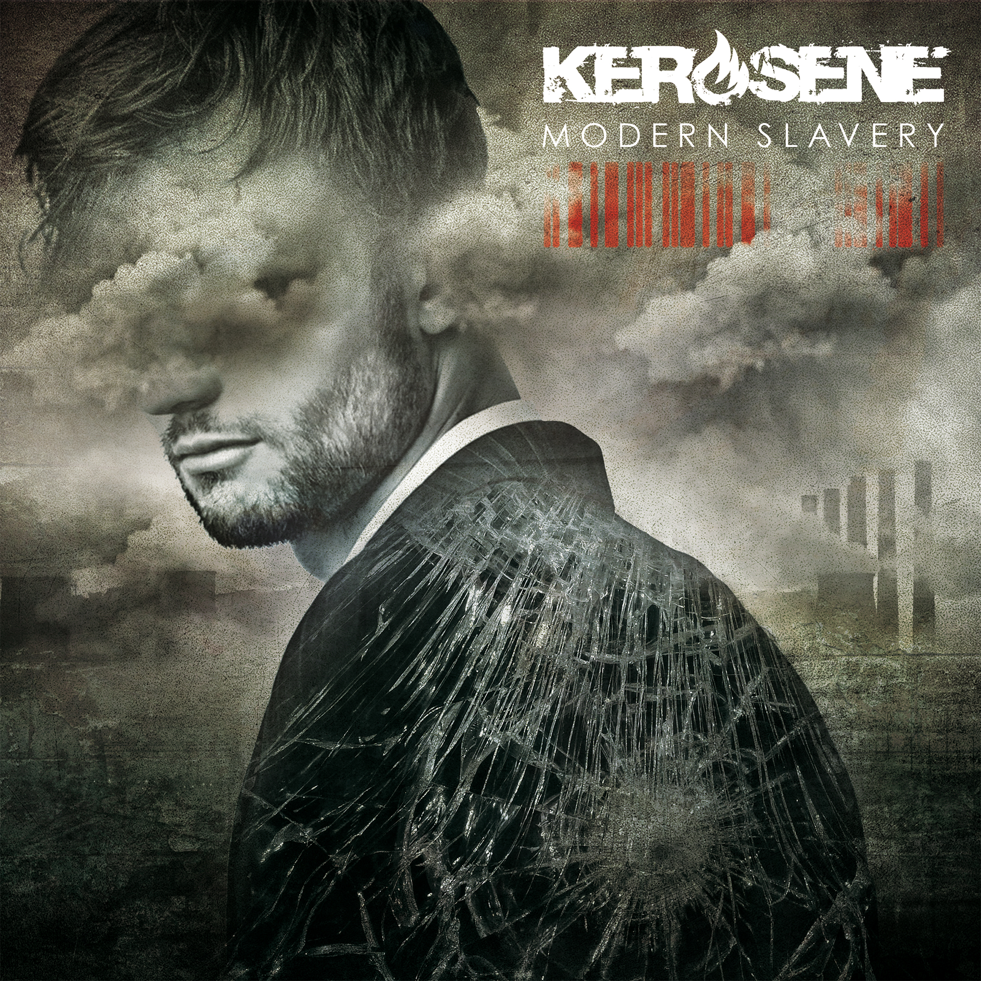 Metal band Kerosene EP release artwork for Modern Slavery Holier Than Thou Records