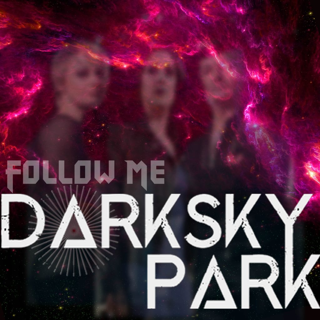 UK melodic doom rock band Dark Sky Park cover art for single release Follow Me